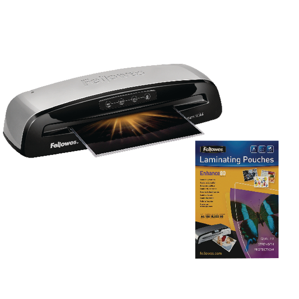 Fellowes Saturn 3i A4 Laminator With Free Laminating Pouches (100 Pack) BB810478