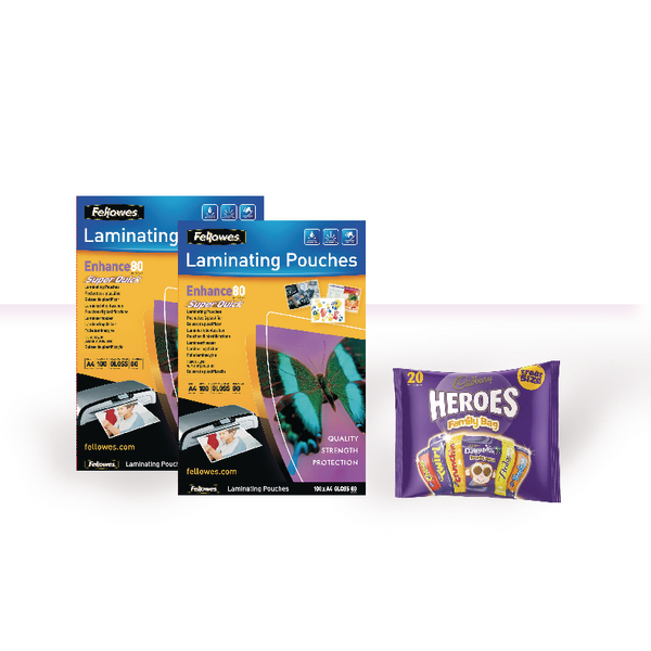 Fellowes A4 Super Quick Laminating Pouch with FOC Chocolate BB810497