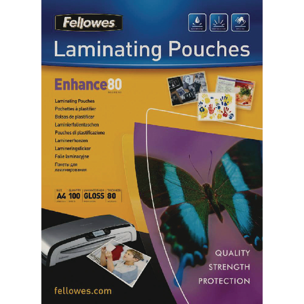 Fellowes A4 Laminating Pouch 160 Micron (100 Pack) Buy One Get One Free BB810512