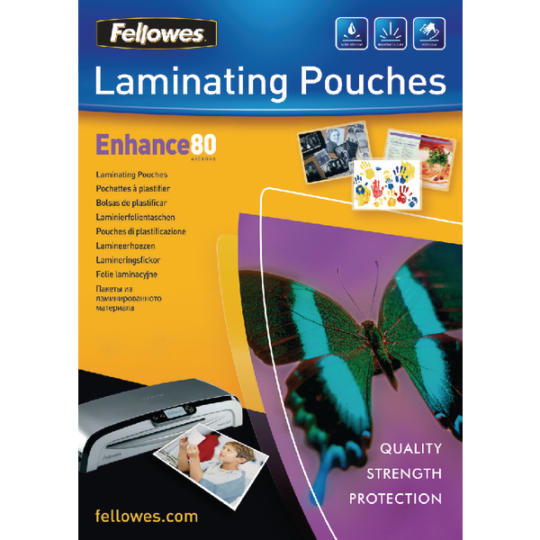 Fellowes A3 Laminating Pouch 80 Micron (100 Pack) Buy One Get One Free BB810513