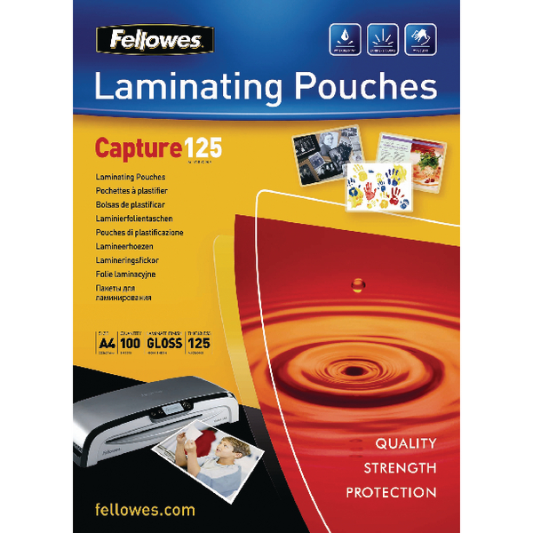 Fellowes A4 Laminating Pouch 250 Micron (100 Pack) Buy One Get One Free BB810514