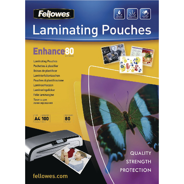 Fellowes A4 Matte Laminating Pouch 160 Micron (100 Pack) Buy One Get One Free BB810515