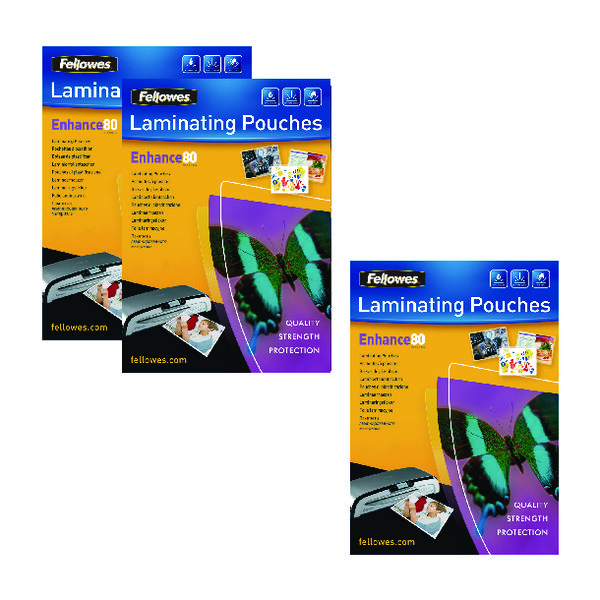 Fellowes A3 Laminating Pouch 160 Mic Get 3 Packs for the Price 2 (Pack of 200+100) BB810552