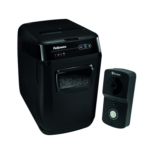 Fellowes Automax 130C Cross Cut Shredder FOC Swann Smart Video Doorbell BB810574