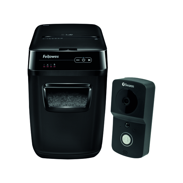 Fellowes Automax 200C Cross Cut Shredder FOC Swann Smart Video Doorbell BB810575