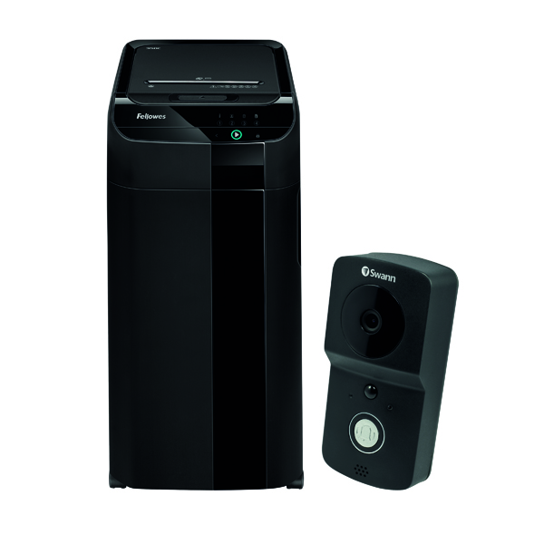 Fellowes Automax 350C Cross Cut Shredder FOC Swann Smart Video Doorbell BB810577
