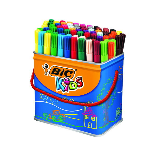Bic Kids Visa Felt Pens Fine Tip Assorted (84 Pack) 829013