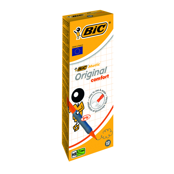 Bic Matic Assorted Grip Mechanical Pencil 0.7mm (12 Pack) 890284