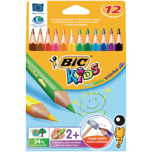 Bic Evolution Coloured Pencils Assorted Colours (12 Pack) 829735