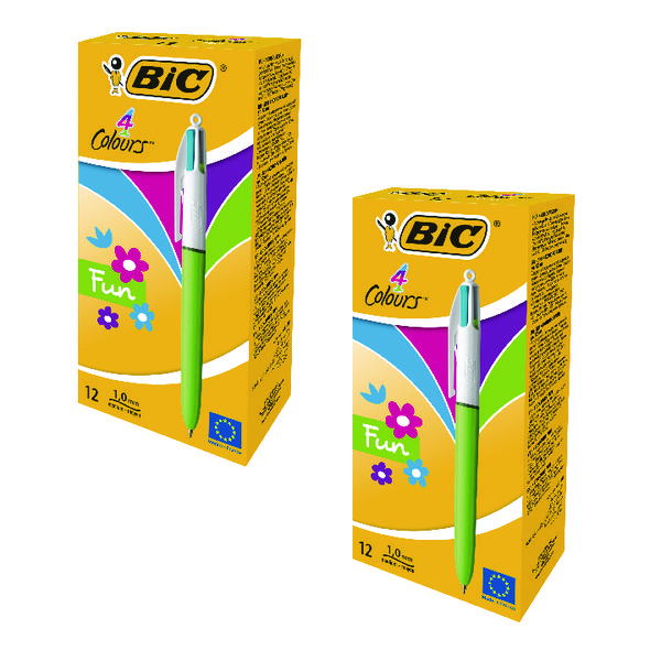 Bic 4 Colours Fashion Assorted (24 Pack) BC810741
