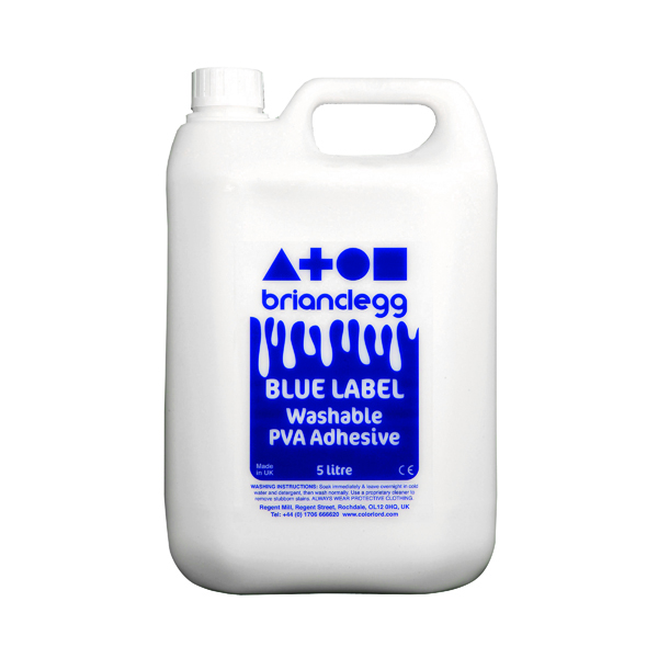 Brian Clegg PVA Glue Blue Label 5 Litre GL18