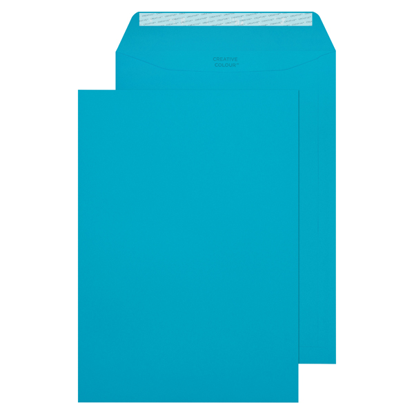 C4 Pocket Envelope Peel and Seal 120gsm Cocktail Blue (250 Pack) 409P