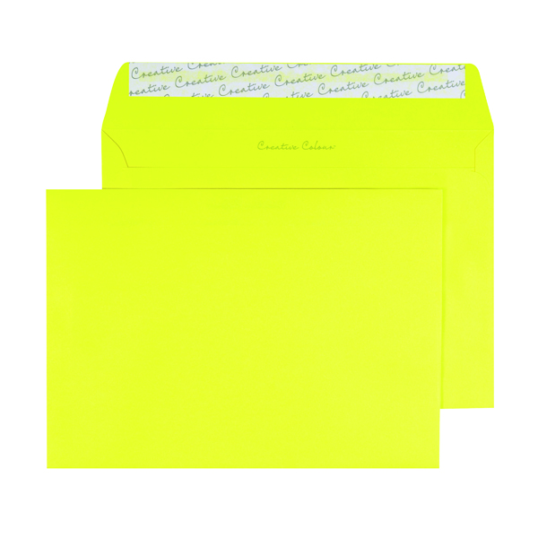 Banana Yellow C5 Wallet Envelope Peel and Seal 120gsm (250 Pack) BLK93019
