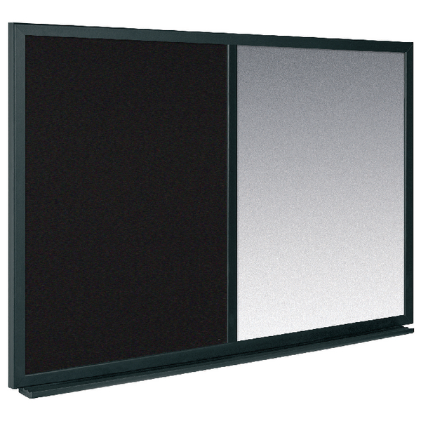 Bi-Office Combo Message Board 600x900mm Black/Silver MX07232169