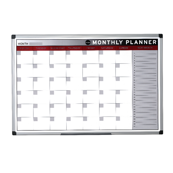 Bi-Office Magnetic 900x600mm Month Planner GA0336170