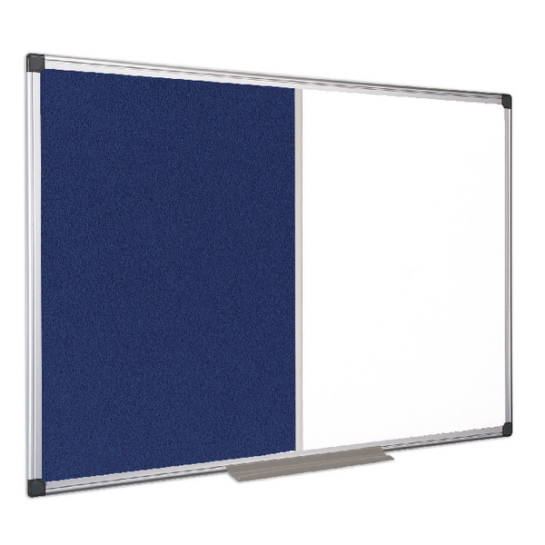Bi-Office Combination 900x600mm Magnetic and Felt Board XA0322170