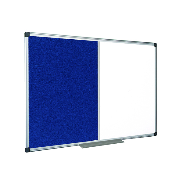 Bi-Office Combination 1200x900mm Magnetic and Felt Board XA0522170
