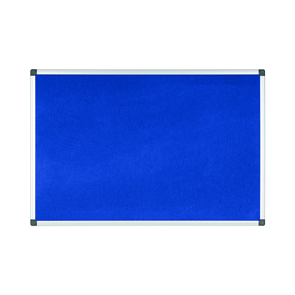 Bi-Office Aluminium Trim Felt Noticeboard 1800x1200mm Blue FA2743170