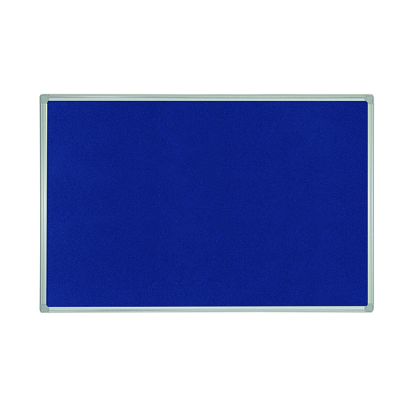 Bi-Office 1200x900mm Blue Felt Board Aluminium Finish FB1443186