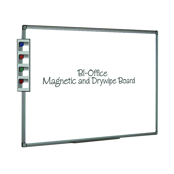 Bi-Office Magnetic Whiteboard 600x450mm Aluminium Finish MB0406186