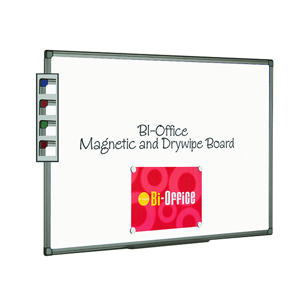 Bi-Office Aluminium Finish Magnetic Whiteboard 900x600mm MB0706186