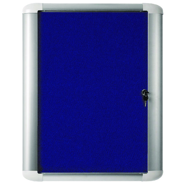 Bi-Office 626x670mm Blue Felt Aluminium Frame External Display Case VT620107760