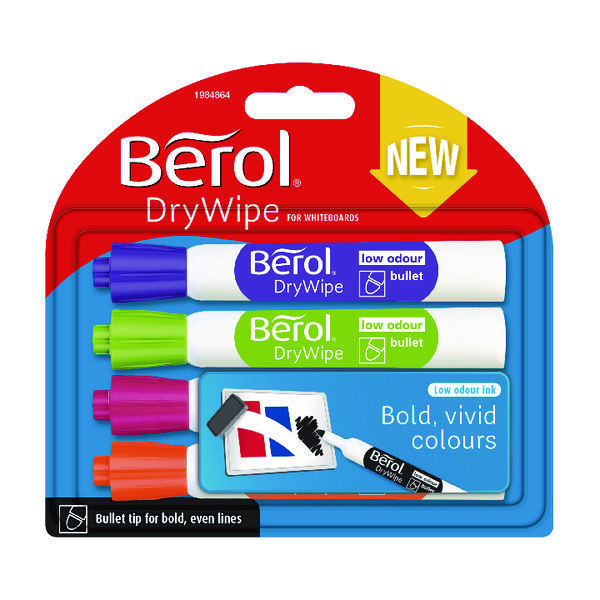 Berol Drywipe Marker Fun Assorted (48 Pack) 1984864