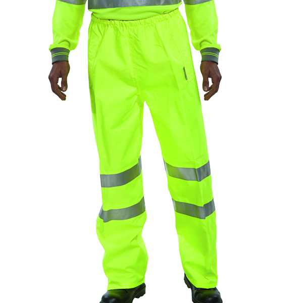 Proforce Class 1 Large Yellow High Visibility Trousers HV03YL-L