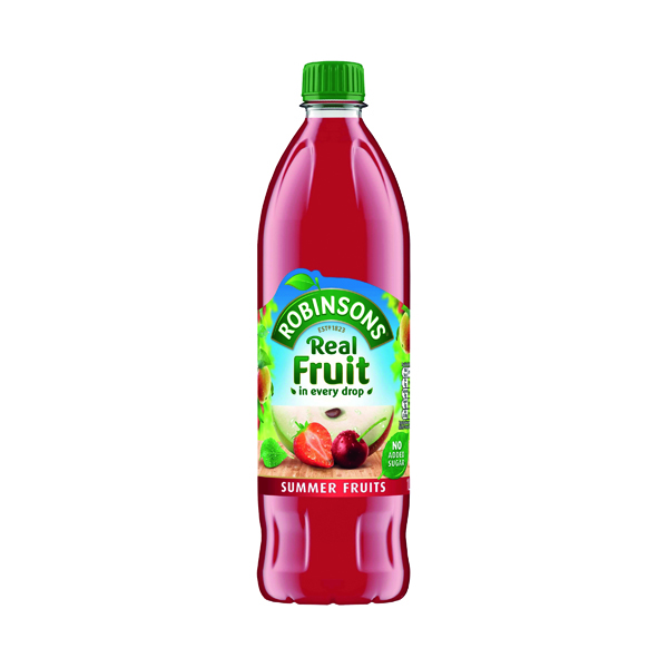 Robinsons No Added Sugar Summer Fruits Squah 1 Litre Pack of 12 206937