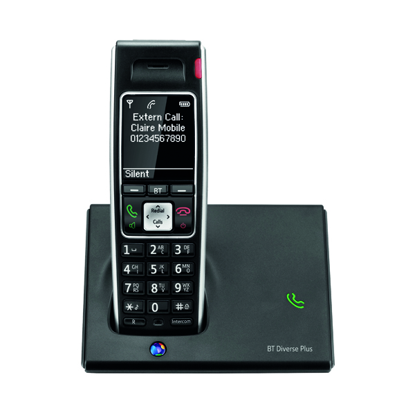 BT Diverse 7410 Plus DECT Cordless Black Phone 060745