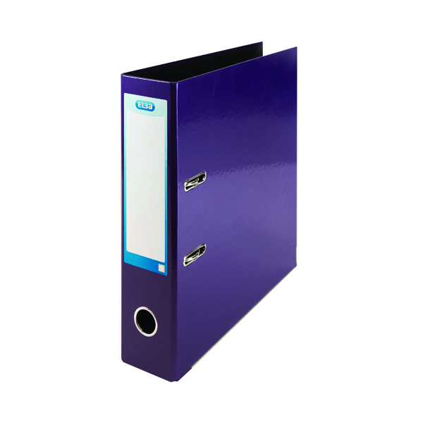 Elba Classy A4 Lever Arch File 70mm Metallic Purple 400021021
