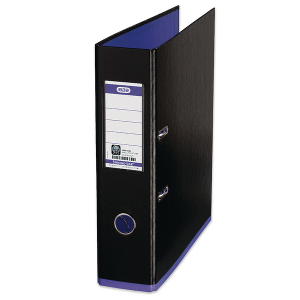 Elba MyColour A4 Black and Purple Lever Arch File 100081034