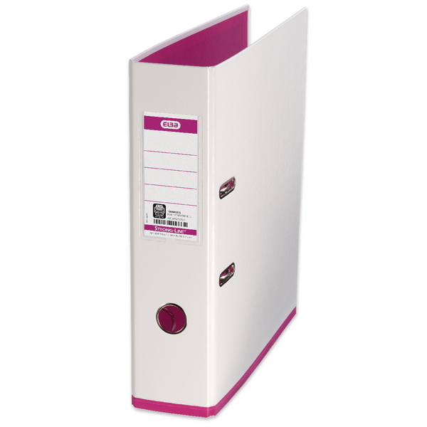 Elba MyColour A4 White and Pink Lever Arch File 100081031