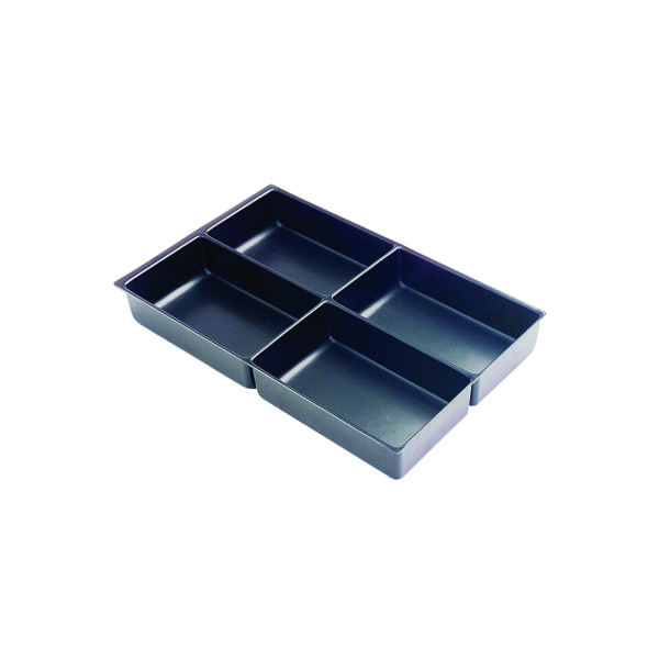 Bisley Multi Drawer Insert Tray Plastic 51mm High 4 Compartments BY00629