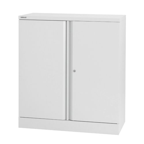 Bisley 2 Door Stationery Cupboard Chalk White 1 Shelf (Pack of 1) BY02575