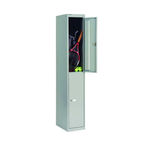 Bisley 2 Door Locker W305xD305xH1802mm Goose Grey BY09212