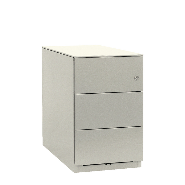Bisley Note Pedestal Mobile 3 Stationery Drawers Chalk White (Pack of 1) BY20724