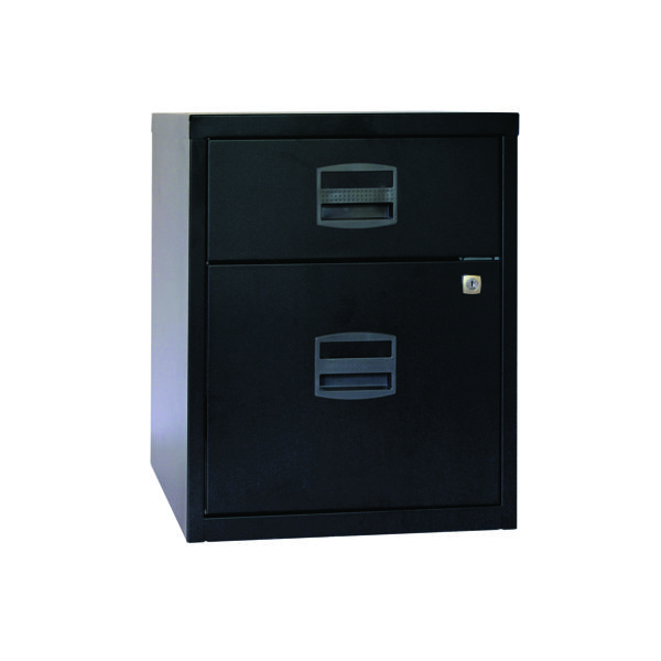 Bisley 2 Drawer Black A4 Mobile Home Filer BY31012