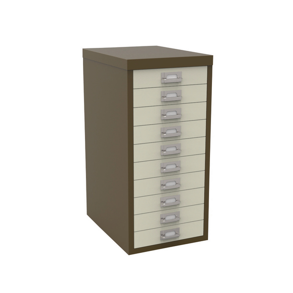 Bisley 10 Drawer Coffee Cream Non-Locking Multi-Drawer Cabinet BY36938