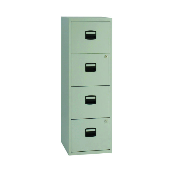Bisley 4 Drawer Grey A4 Personal Filing Cabinet BY37874