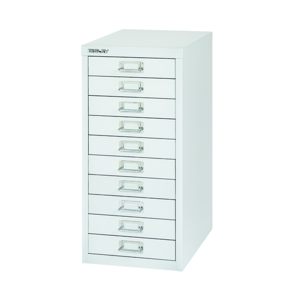 Bisley 10 Drawer Silver Non-Locking Multi-Drawer Cabinet BY40500