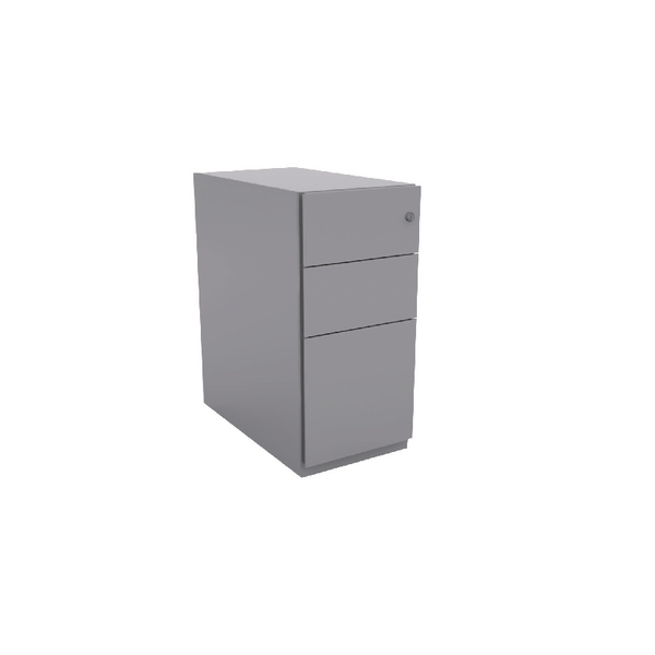 Bisley Mobile 2 Stationery 1 Filing Drawer Goose Grey Note Pedestal BY42014