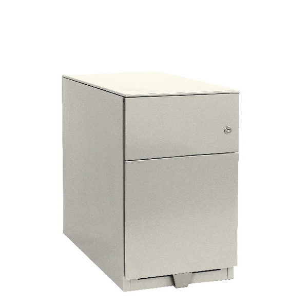 Bisley Mobile 1 Stationery 1 Filing Drawer Chalk White Note Pedestal BY42024