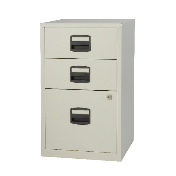 Bisley 3 Drawer Lockable Grey A4 Home Filer BY59269
