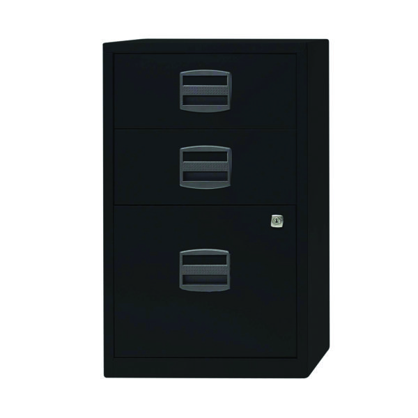 Bisley 3 Drawer Lockable Black A4 Home Filer BY60318
