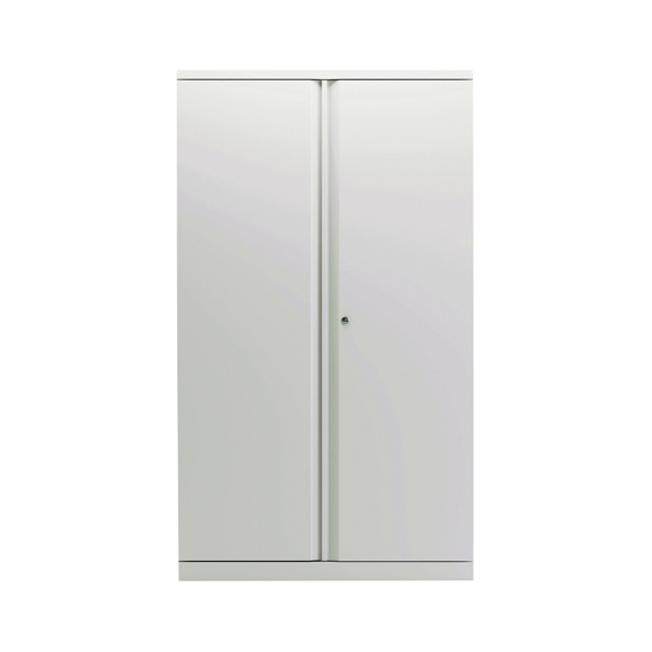 Bisley 2 Door Cupboard Chalk White 1585mm Empty KF78713