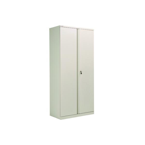 Bisley 2 Door Cupboard Goose Grey 1985mm Empty KF78715