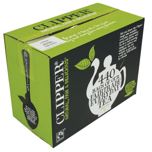 Clipper Fairtrade Everday Tea Bags With Free Coffee (Pack of 440) BZ833082