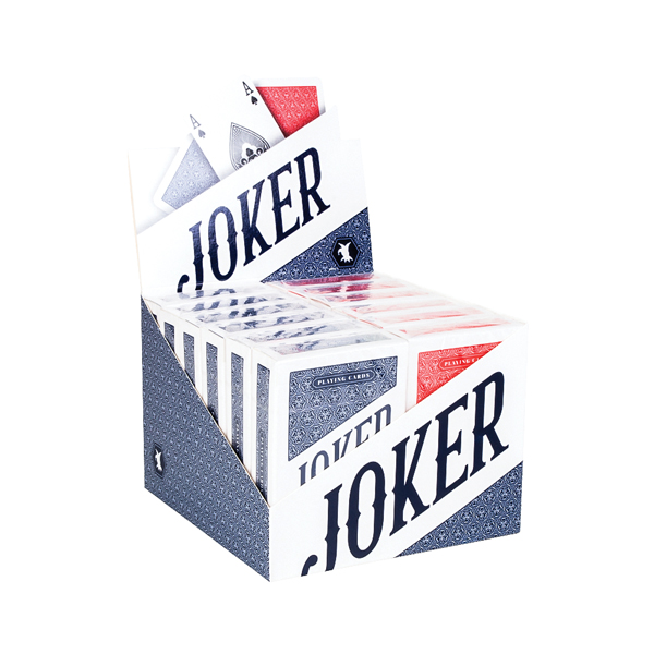Joker Playing Card Display Red / Blue (12 Pack) 107112128