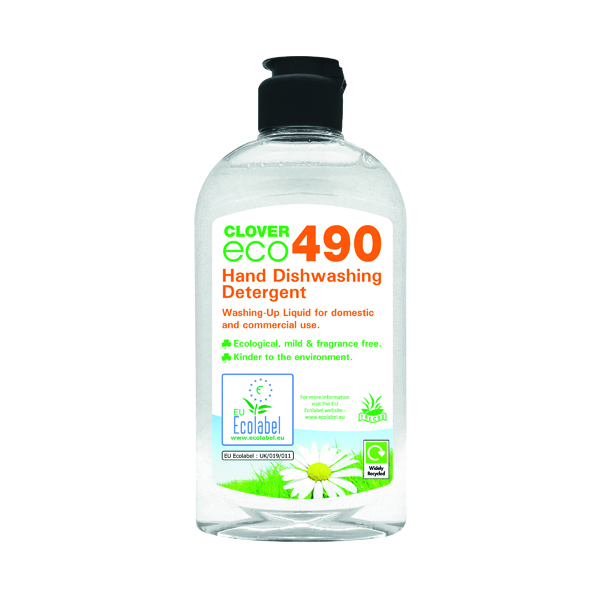 Clover ECO 490 Hand Dishwashing Detergent 300ml (6 Pack) 490